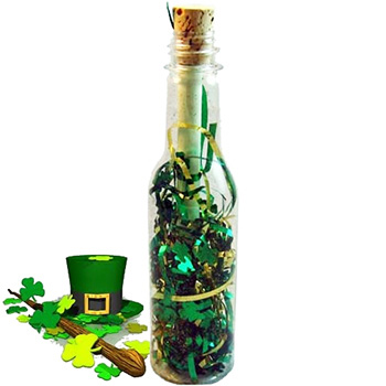 St. Patrick's Day Message In A Bottle