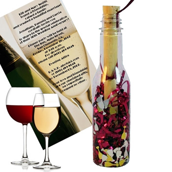 Wine Tasting Message In A Bottle