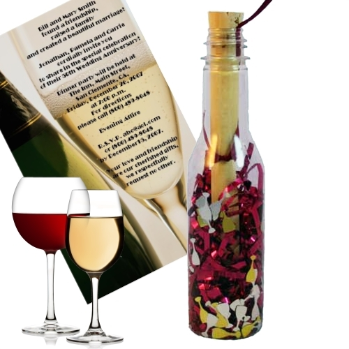 Wine tasting promo mailer and invitation wine tasting message in a bottle solutioingenieria Images
